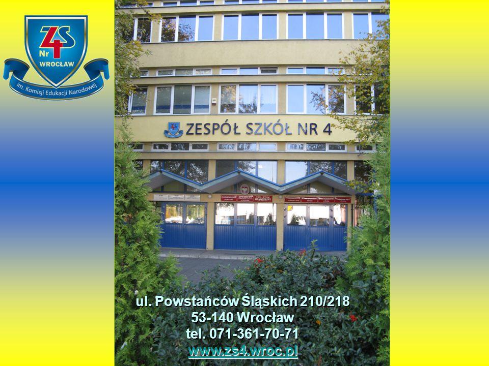 ul. Powstańców Śląskich 210/218 53-140 Wrocław tel. 071-361-70-71
