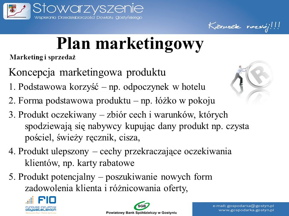 Plan marketingowy Koncepcja marketingowa produktu