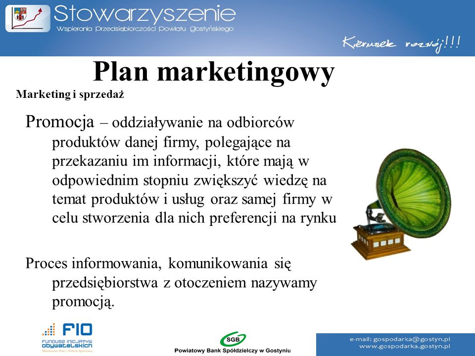 Plan marketingowy Marketing i sprzedaż.
