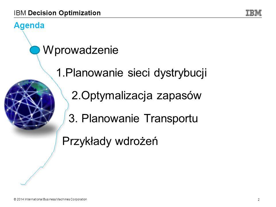 1.Planowanie sieci dystrybucji 2.Optymalizacja zapasów
