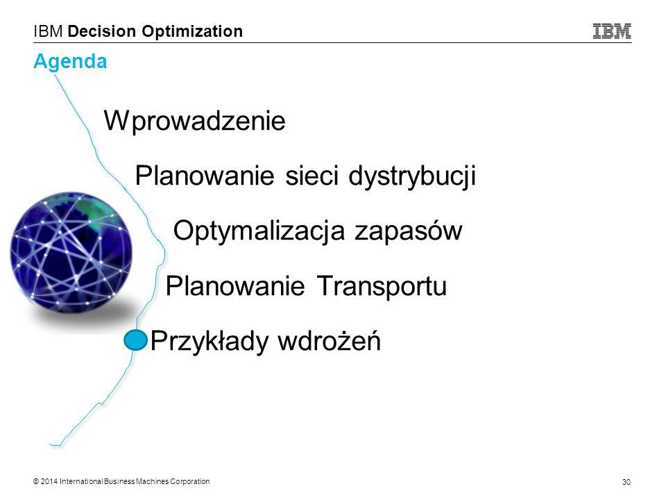 Planowanie sieci dystrybucji Optymalizacja zapasów