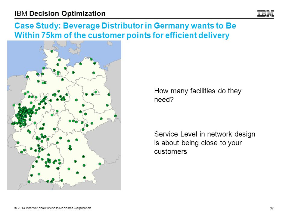 Case Study: Beverage Distributor in Germany wants to Be Within 75km of the customer points for efficient delivery