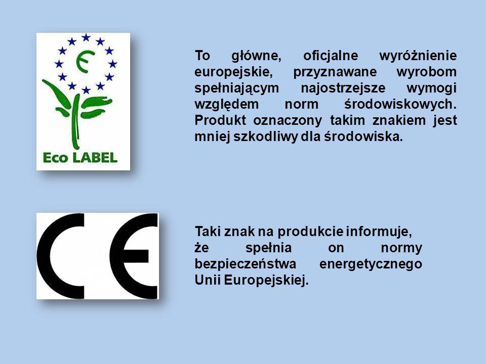To główne, oficjalne wyróżnienie europejskie, przyznawane wyrobom spełniającym najostrzejsze wymogi względem norm środowiskowych. Produkt oznaczony takim znakiem jest mniej szkodliwy dla środowiska.