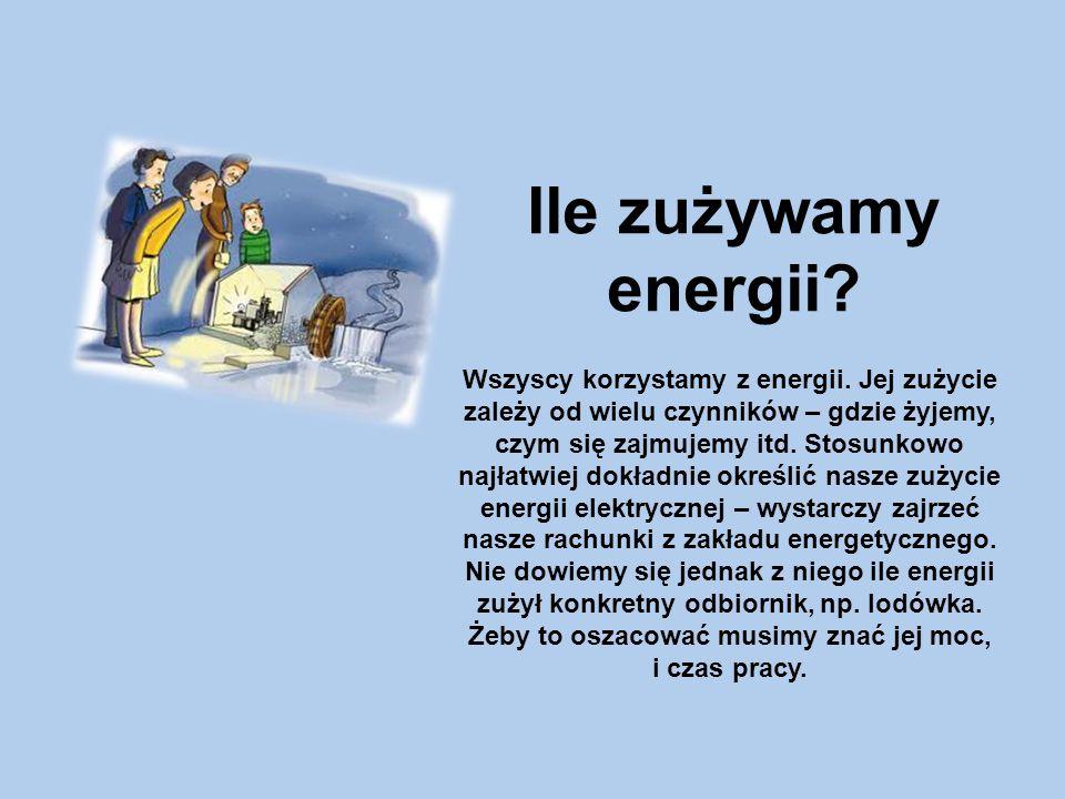 Ile zużywamy energii