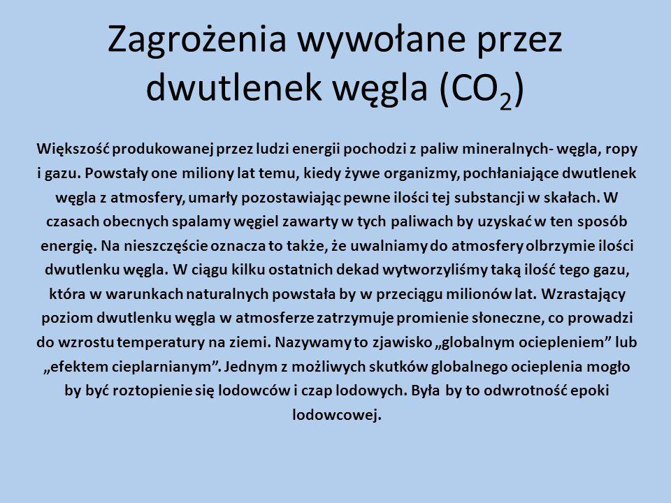 Zagrożenia wywołane przez dwutlenek węgla (CO2)