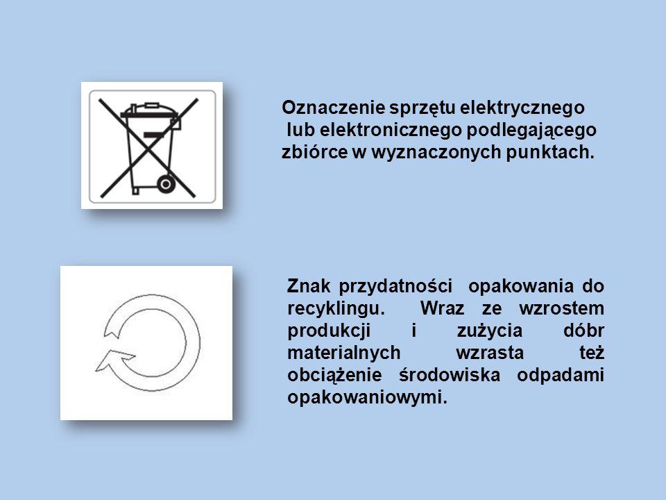 Oznaczenie sprzętu elektrycznego