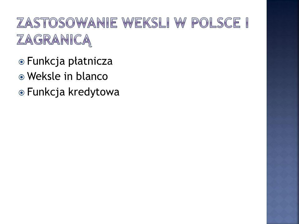 ZASTOSOWANIE WEKSLI W POLSCE I ZAGRanicą