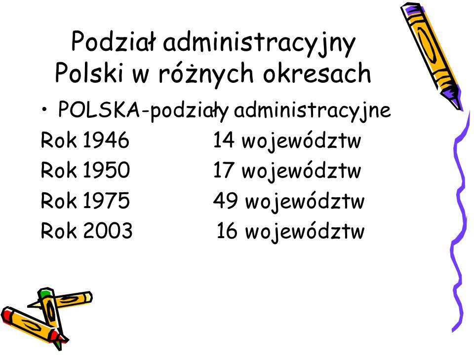 Podział administracyjny Polski w różnych okresach
