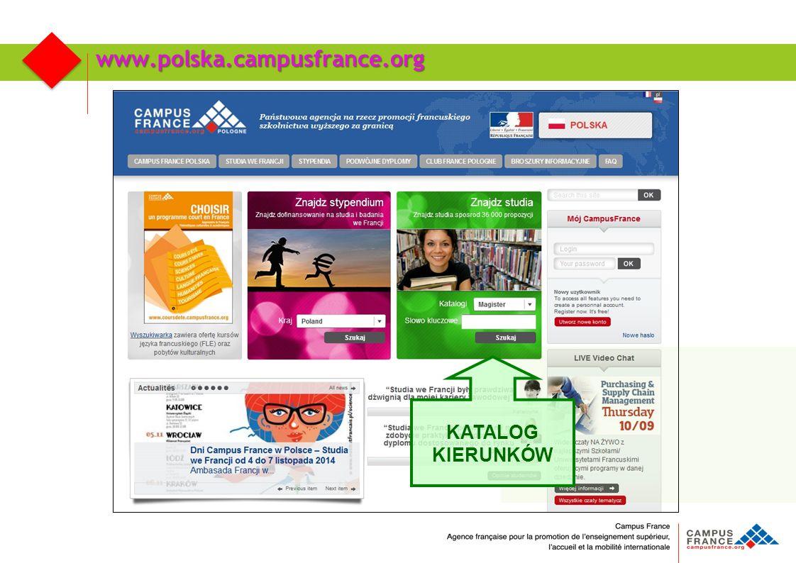 www.polska.campusfrance.org KATALOG KIERUNKÓW