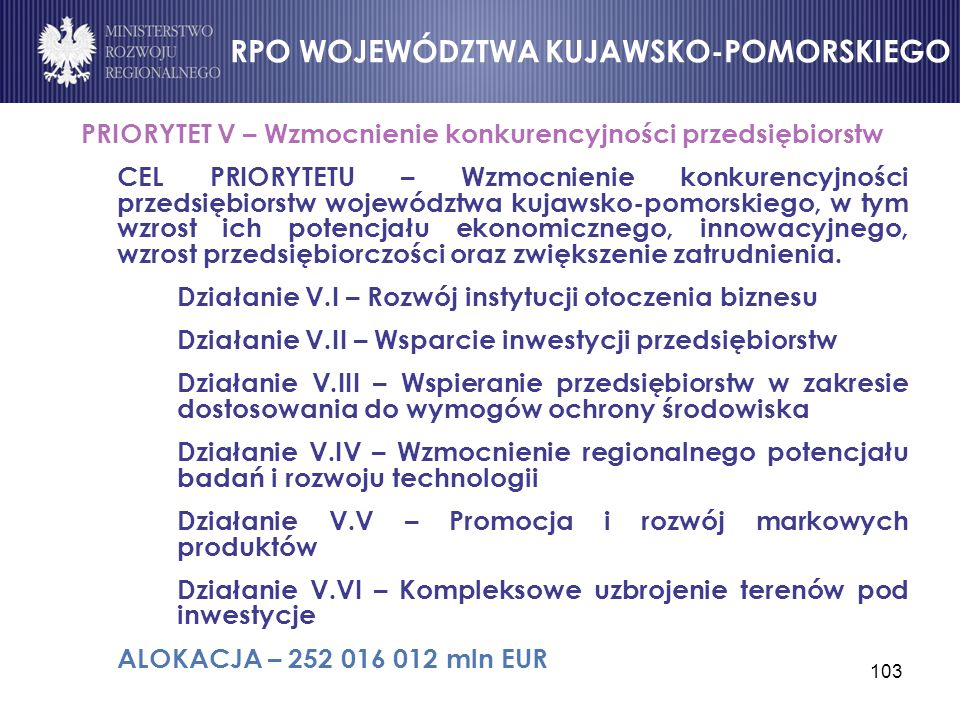 RPO WOJEWÓDZTWA KUJAWSKO-POMORSKIEGO