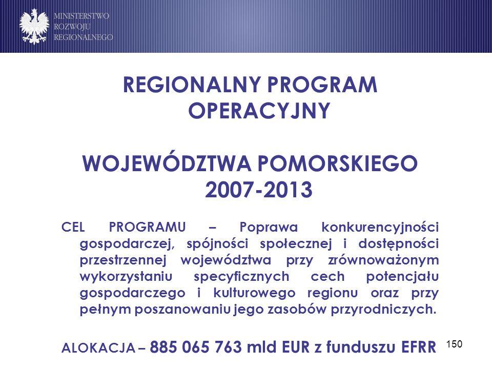 REGIONALNY PROGRAM OPERACYJNY WOJEWÓDZTWA POMORSKIEGO 2007-2013