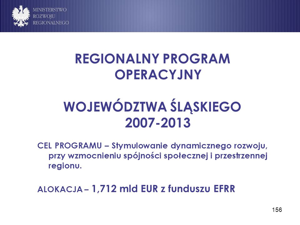 REGIONALNY PROGRAM OPERACYJNY WOJEWÓDZTWA ŚLĄSKIEGO 2007-2013