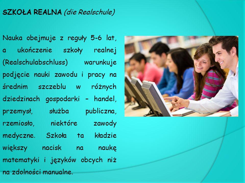 SZKOŁA REALNA (die Realschule)