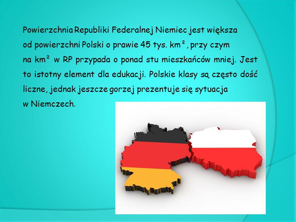 Powierzchnia Republiki Federalnej Niemiec jest większa