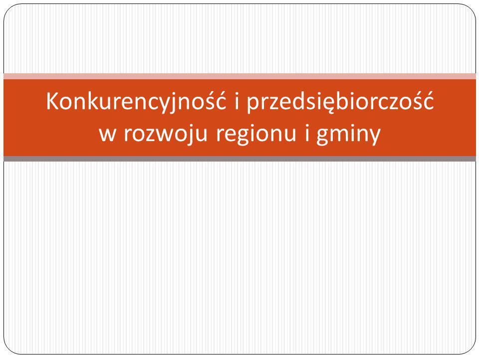 Konkurencyjność i przedsiębiorczość w rozwoju regionu i gminy