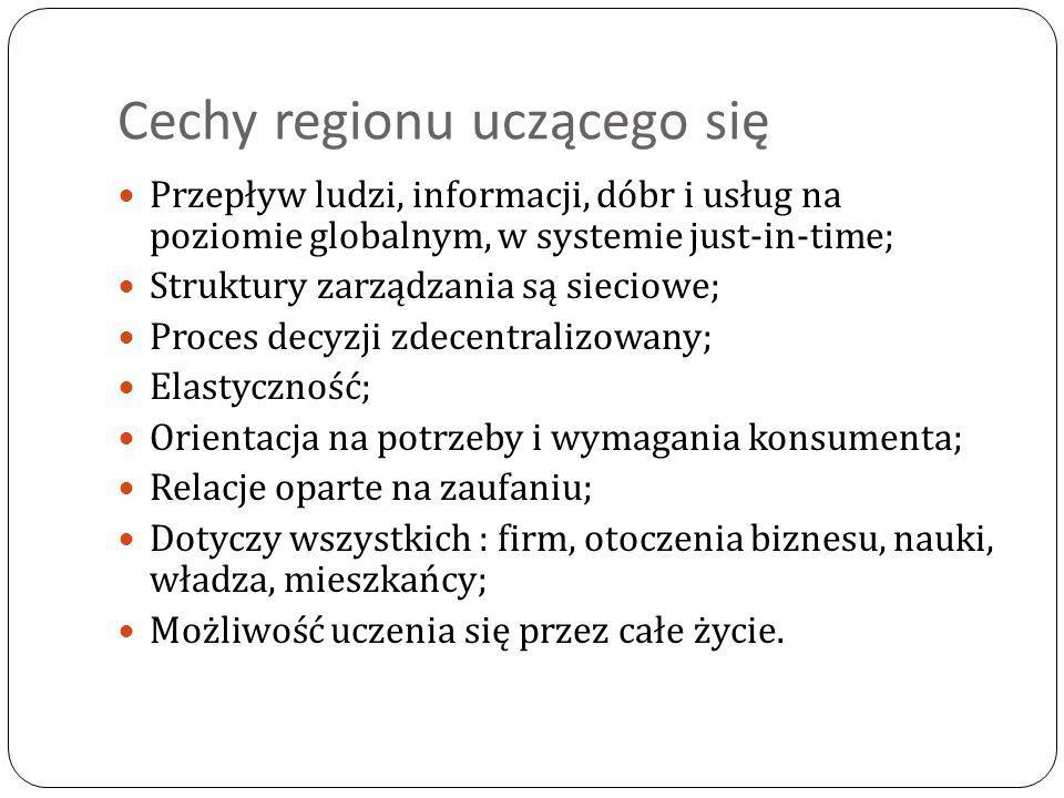 Cechy regionu uczącego się