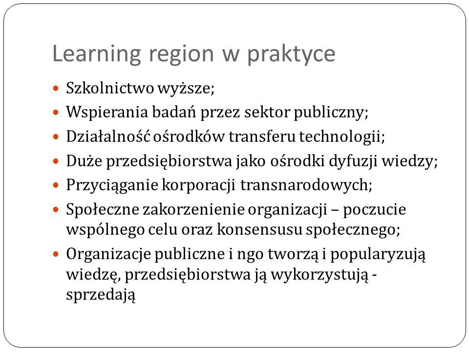 Learning region w praktyce
