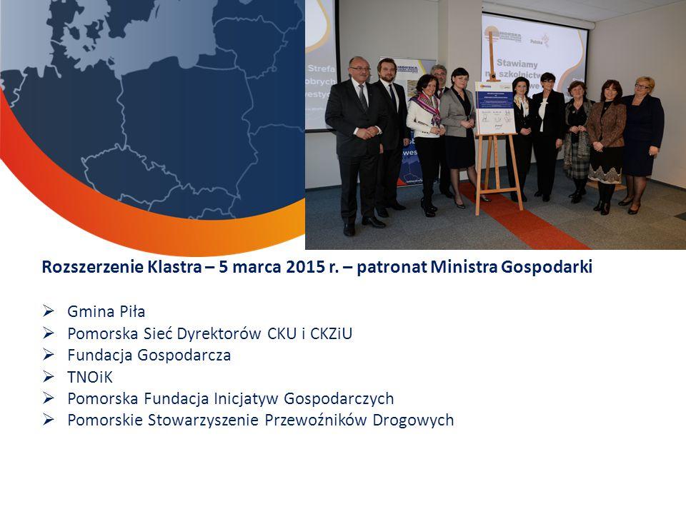 Rozszerzenie Klastra – 5 marca 2015 r. – patronat Ministra Gospodarki