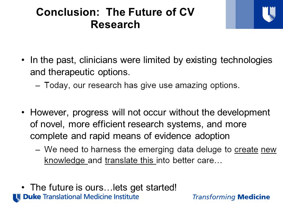 Conclusion: The Future of CV Research
