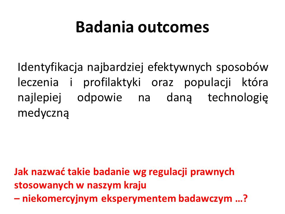 Badania outcomes