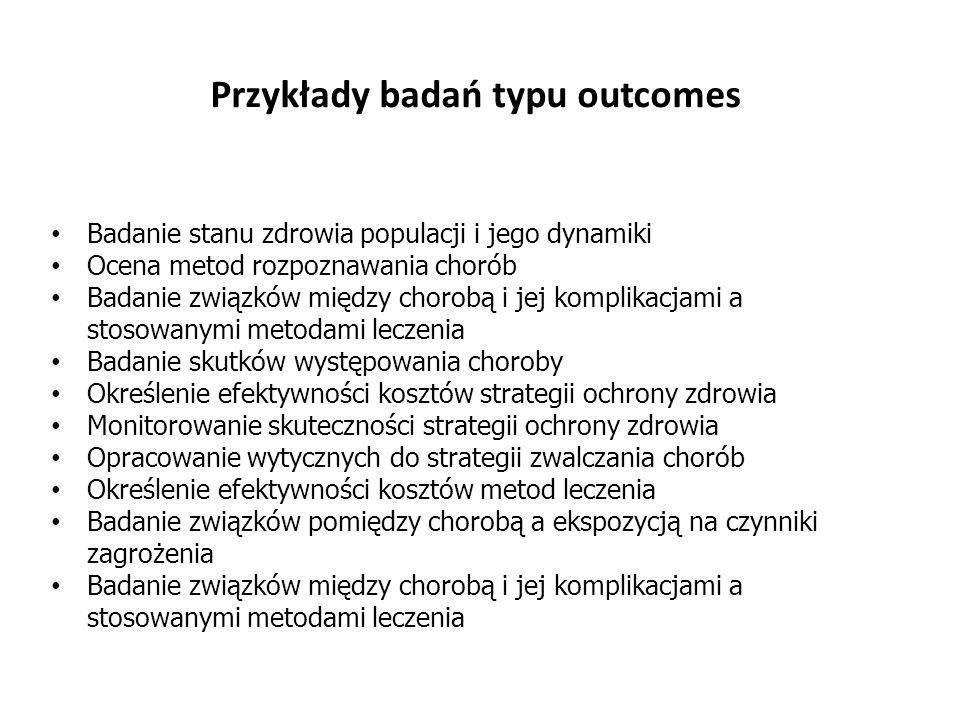 Przykłady badań typu outcomes