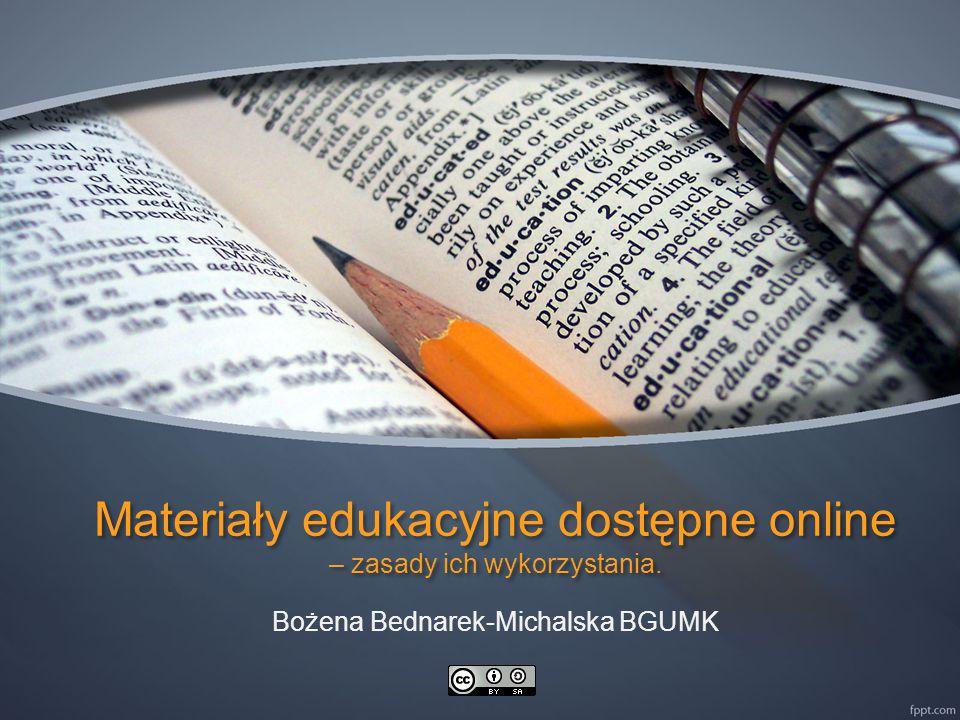 Materiały edukacyjne dostępne online – zasady ich wykorzystania.