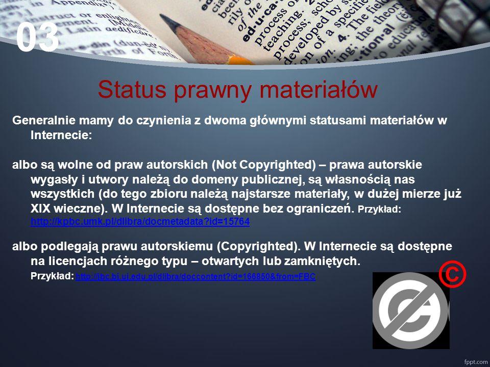 Status prawny materiałów