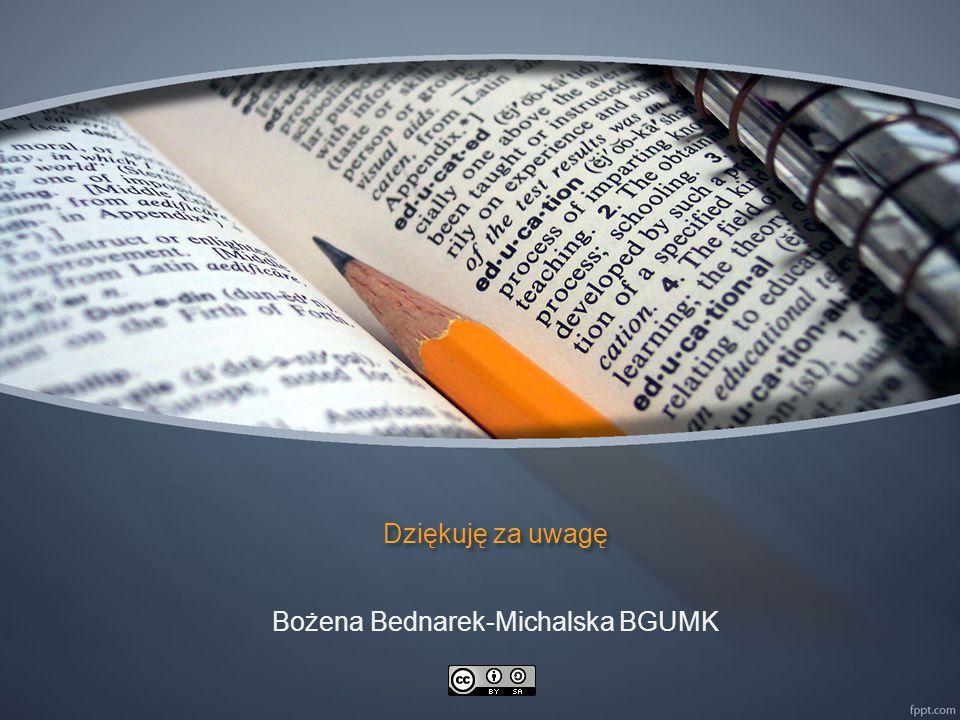 Bożena Bednarek-Michalska BGUMK