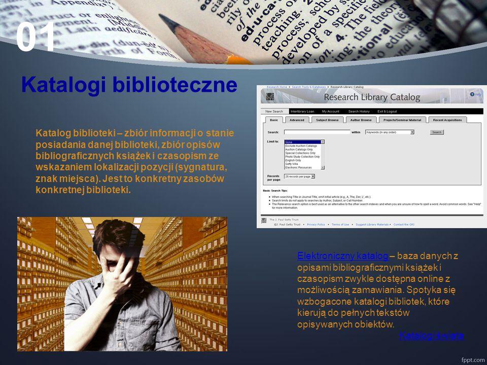 01 Katalogi biblioteczne