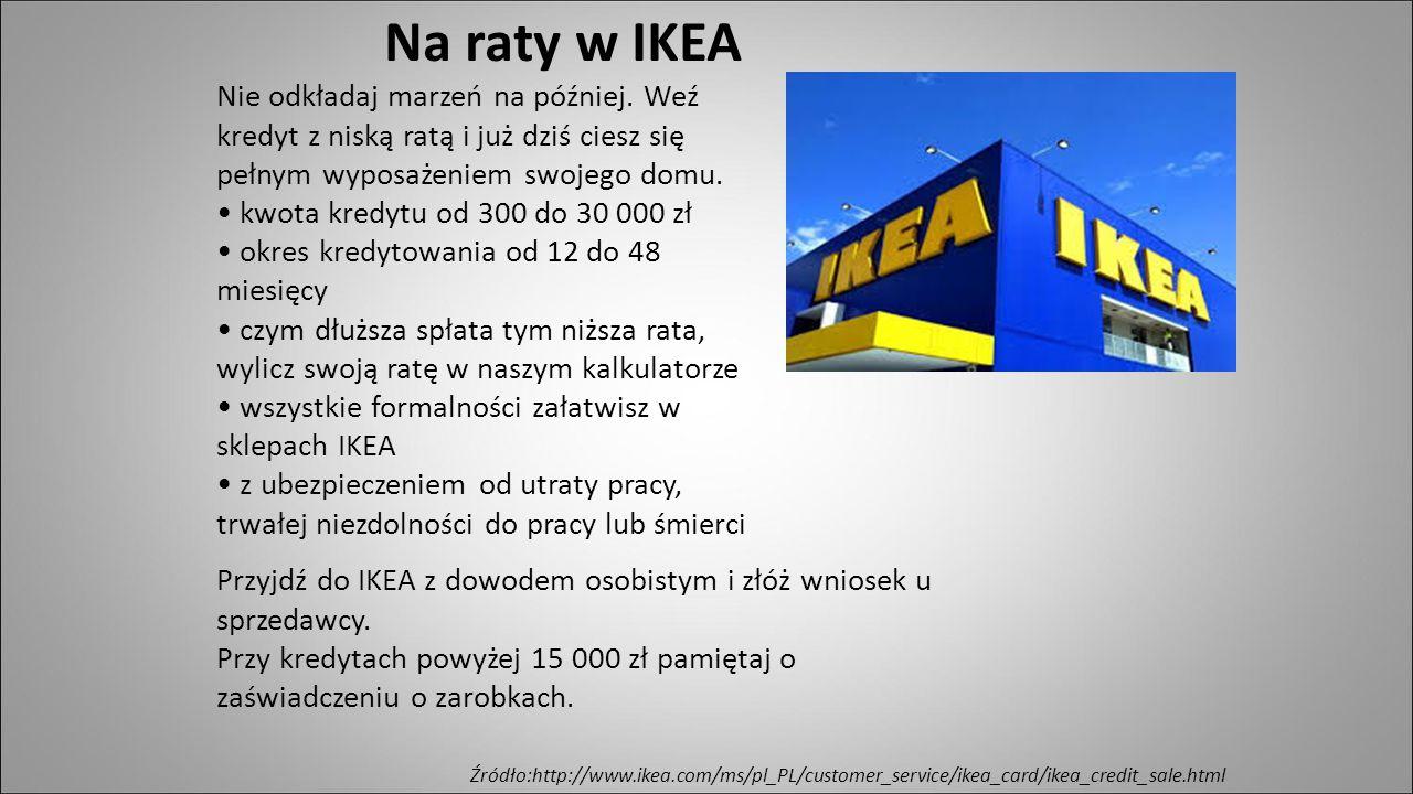Na raty w IKEA