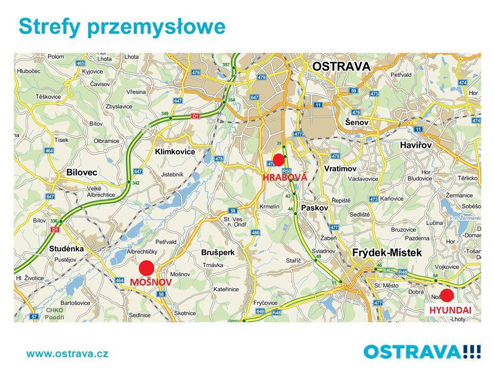 Strefy przemysłowe www.ostrava.cz