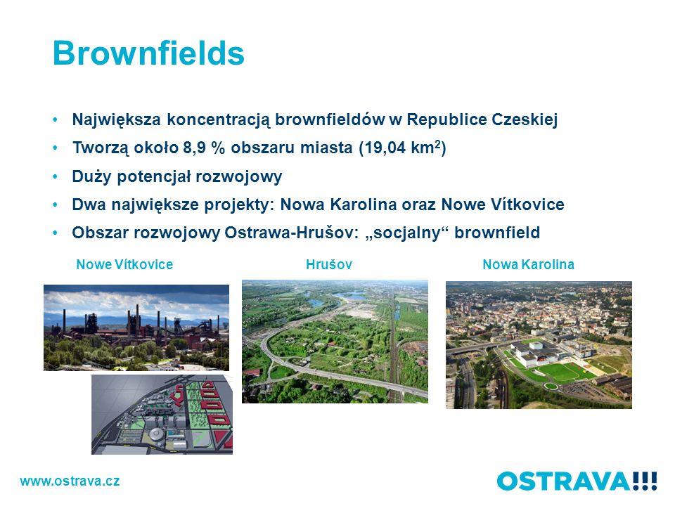Brownfields Największa koncentracją brownfieldów w Republice Czeskiej