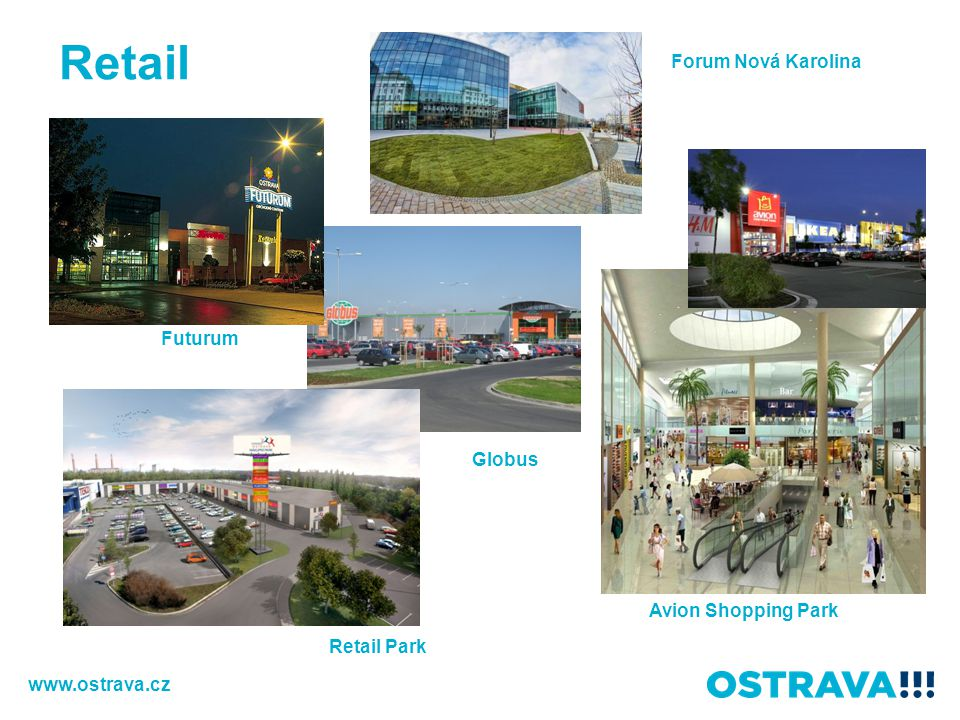 Retail Forum Nová Karolina Futurum Globus Avion Shopping Park