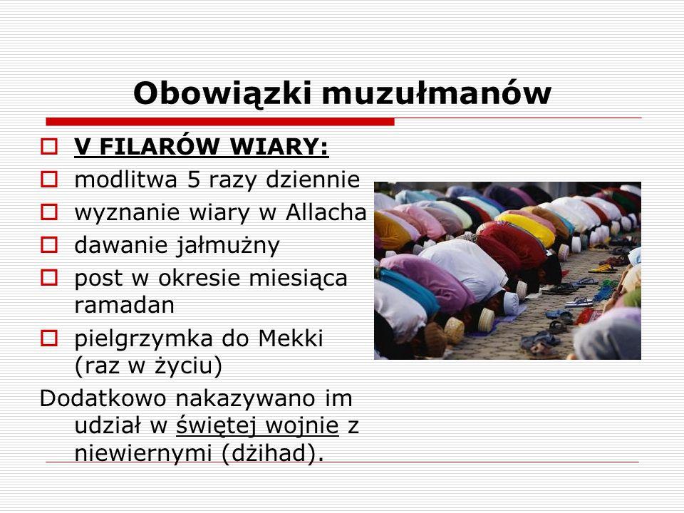 Obowiązki muzułmanów V FILARÓW WIARY: modlitwa 5 razy dziennie