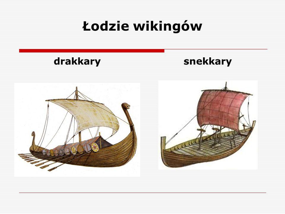 Łodzie wikingów drakkary snekkary