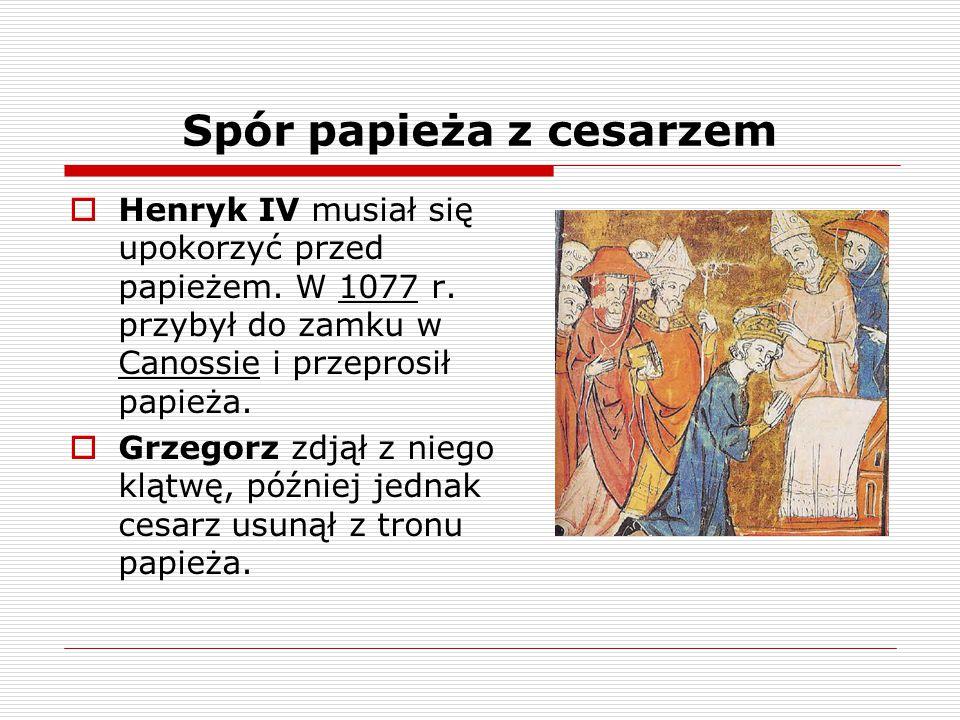Spór papieża z cesarzem