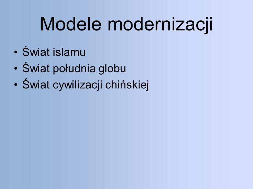 Modele modernizacji Świat islamu Świat południa globu