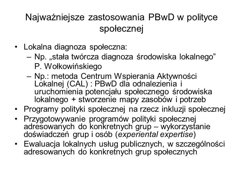Najważniejsze zastosowania PBwD w polityce społecznej