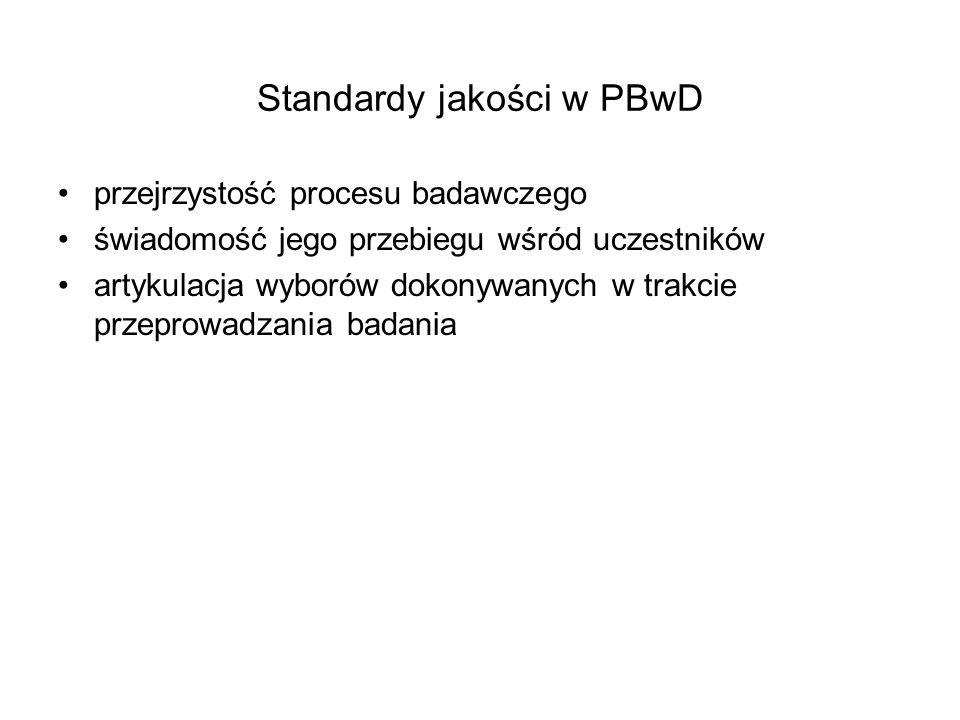 Standardy jakości w PBwD
