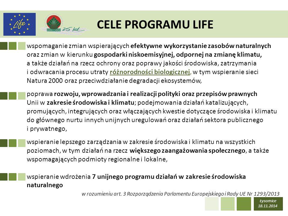 CELE PROGRAMU LIFE