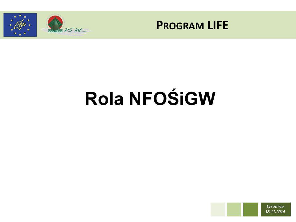 Program LIFE Rola NFOŚiGW Łysomice 18.11.2014