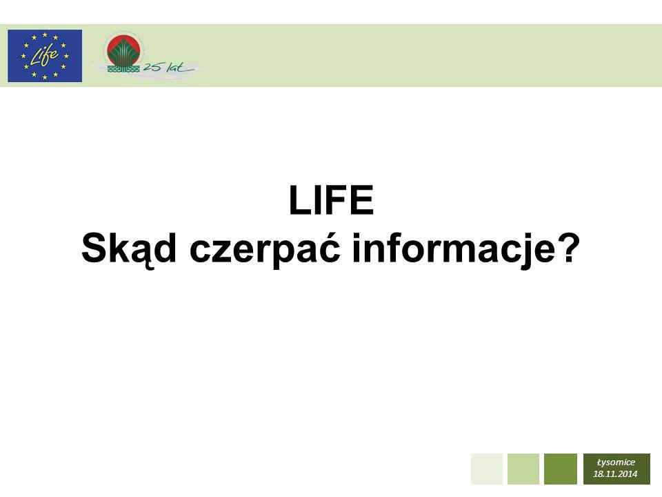 LIFE Skąd czerpać informacje