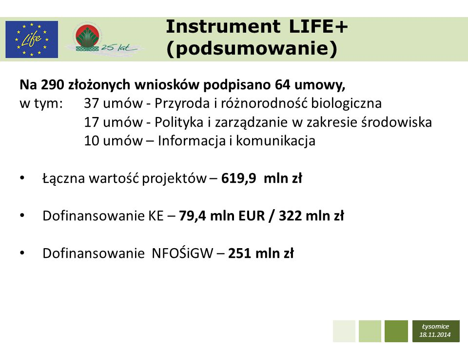 Instrument LIFE+ (podsumowanie)