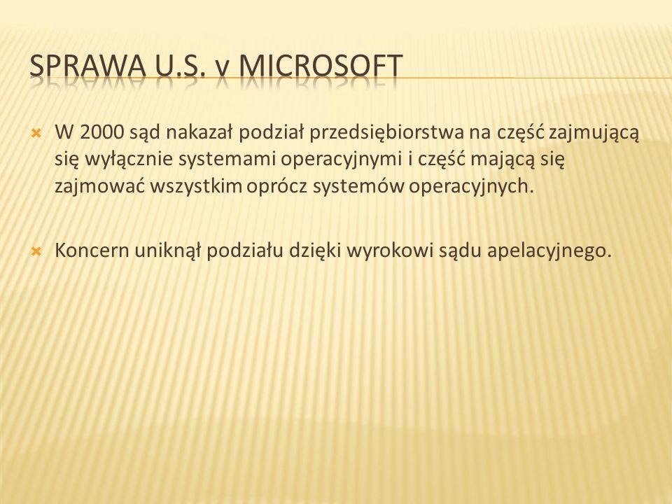 Sprawa U.S. v Microsoft