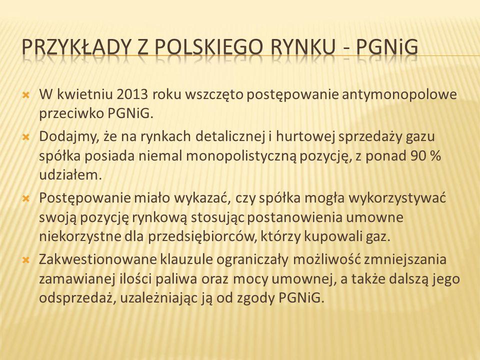 Przykłady z polskiego rynku - PGNiG