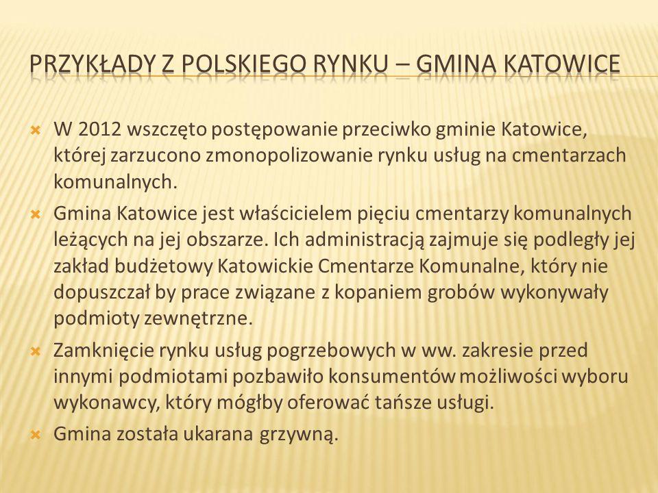 Przykłady z polskiego rynku – gmina Katowice