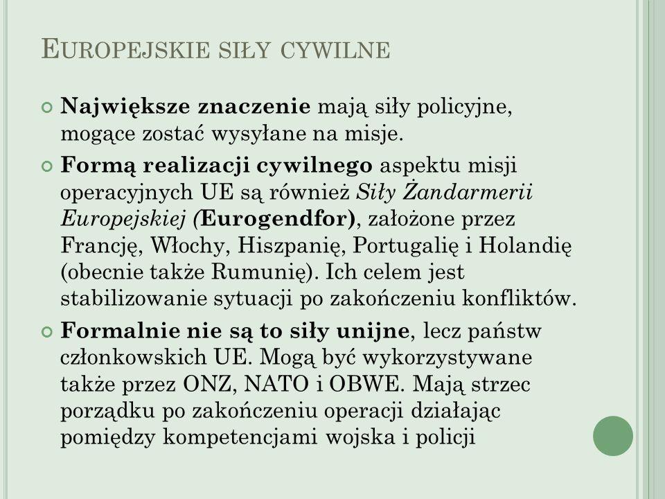 Europejskie siły cywilne