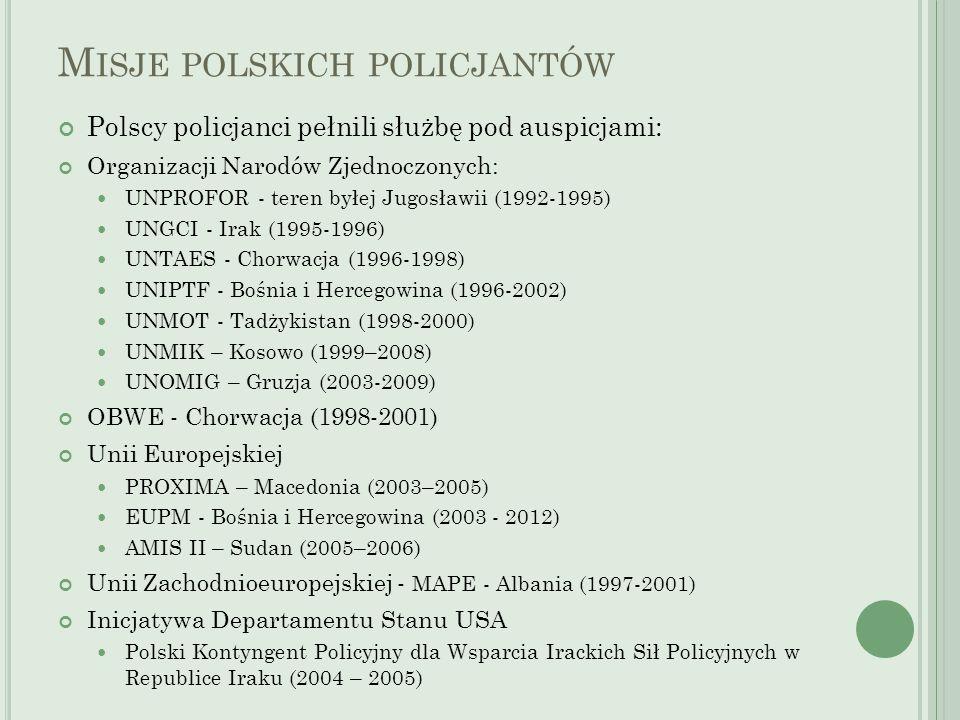 Misje polskich policjantów