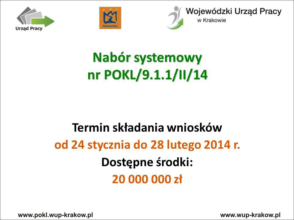 Nabór systemowy nr POKL/9.1.1/II/14