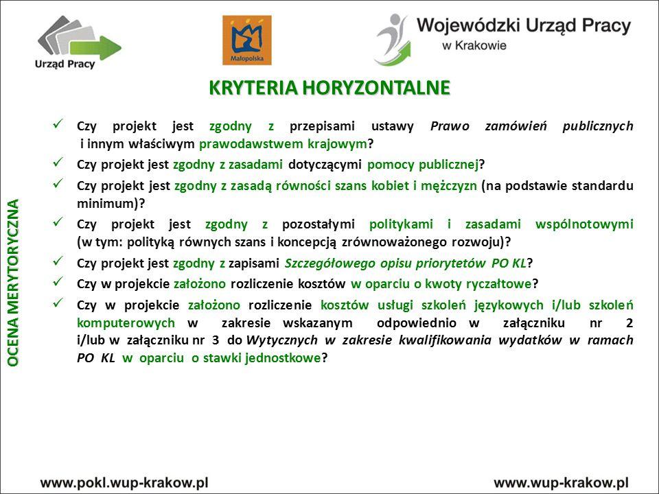 KRYTERIA HORYZONTALNE